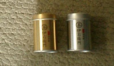 金と銀のミニ缶